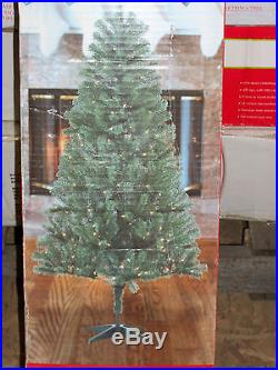 6' Foot Douglas Fir Prelit Clear White Lights Artificial Christmas Tree with Stand