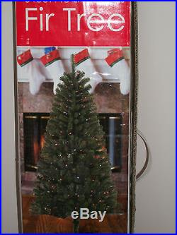 6' Foot Douglas Fir Prelit Multi-Color Lights Artificial Christmas Tree with Stand