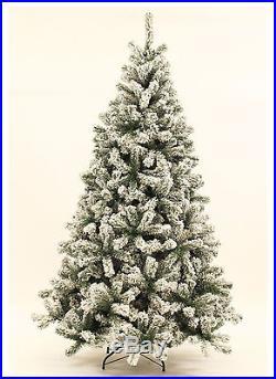 6 Foot Prince Flock Artificial Christmas Tree Unlit