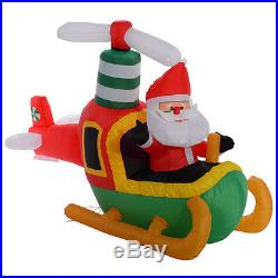 6 Ft Airblown Inflatable Christmas Santa Claus On Plane Decor Lawn Yard Outdoor