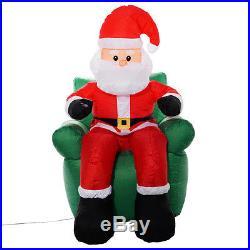 6 Ft Airblown Inflatable Christmas Xmas Santa Claus Sofa Decor Lawn Yard Outdoor