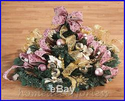 6 Ft. Fully Decorated VICTORIAN Pre-Lit Pull-Up Pop-Up Christmas Tree EASY SET