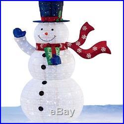 6 Ft Outdoor Snowman Christmas Decoration 210 Led Lights Festive Garden