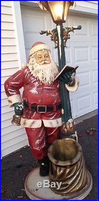 6 Ft. Tall Outdoor Lighted Vintage Heirloom Santa
