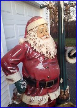6 Ft Tall Outdoor Lighted Vintage Heirloom Santa