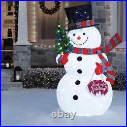 6 Ft Tall POP UP Snowman Indoor Outdoor Twinkling LED Christmas Yard Decoration