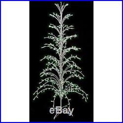 6′ Green Lighted Christmas Cascade Twig Tree Outdoor Yard Art Decoration New