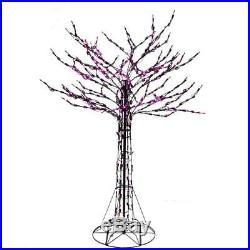 6′ Halloween LED Purple Branch Twig Tree Yard Decor
