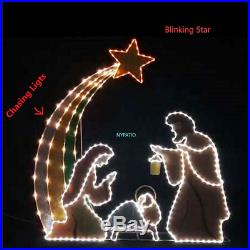 6′ Lighted Outdoor Nativity 408 Led Scene Set Motion