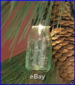 6 MINI MASON JAR ORNAMENT Light Holders-Christmas Tree Ornaments-GLASS BALL