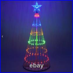 6′ Multi-Color LED Light Show Christmas Tree Animated Outdoor Decoration NEW