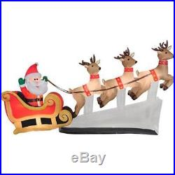 6' Outdoor Inflatable Waving Santa Floating Sleigh Christmas Holiday Yard Decor