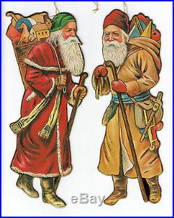 (6)Pcs Ornaments Old Fashioned Santa Hanging Decoration 9 Christmas Tree #70105