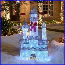 6′ Twinkling Castle Christmas Princess Outdoor Yard Decor LOCAL PICKUP ONLY