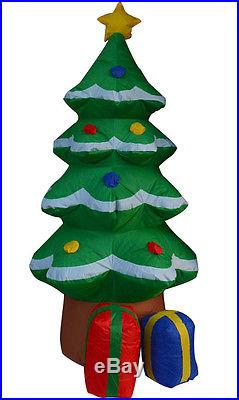 6 ft Tall Inflatable Christmas Tree Santa Yard Decor Holiday Airblown Decoration