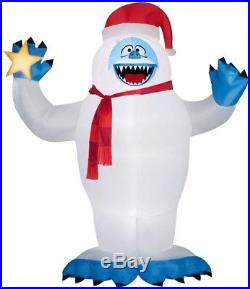 6 ft. W x 12 ft. H Abominable Snowman with Santa Inflatable Airblown Christmas