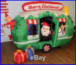 6 x 8 ft Airblown Camper Santa LED Lighted Holiday Christmas Outdoor Inflatable