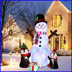 6ft Large Light Up Inflatable Snowman Airblown Penguin Christmas Lawn Decoration