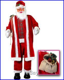 6ft Life Size Santa Animated Dancing Singing Father Christmas Decoration Xmas
