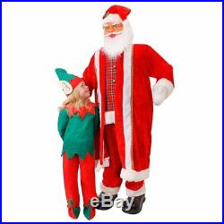 6ft Santa Prop Singing & Dancing Father Christmas Life Size Decoration ILFD5027
