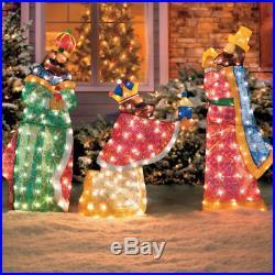 6pc Lighted Outdoor Nativity Set Holy Family Scene