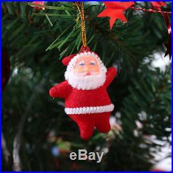 6pcs Christmas Santa Claus Ornaments Festival Party Xmas Tree Hanging Decoration