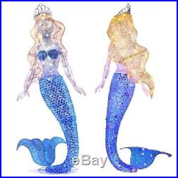 70 Fast Twinkle Lighted Mermaid Christmas Outdoor Yard Decor (New) FREE SHIP