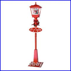 71in Outdoor Xmas Street Light Novelty Christmas Snowing Lamp Home Garden Decor