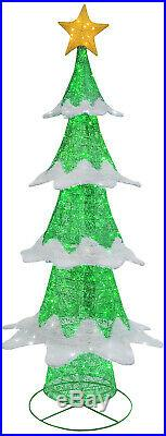 72H Glittering Outdoor Christmas Tree Lights Sculpture Yard Lawn Decoration