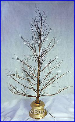 72 Inch Brown Fibre Optic Twig Tree Gold Base Christmas Tree (FO72TGB)