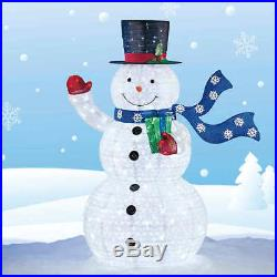 72 Pop-Up Collapsible Snowman 294 LED Lights Indoor & Outdoor Christmas Decor