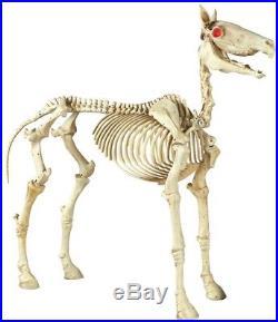 74 in. Halloween Standing Skeleton Horse Yard Decor Outdoor Decorations