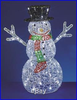 76cm Acryl groß Schneemann Weihnachten LED Dekoration Requisite Innen Außen
