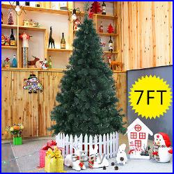 7Ft Artificial PVC Christmas Tree WithStand Holiday Season Indoor Outdoor Green