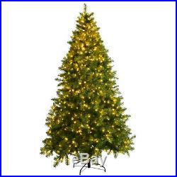 7Ft Pre-Lit Dense PVC Christmas Tree Spruce Hinged with700 LED Lights Decoration