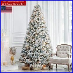 7.5FT 1500 Tips Snow Flocked Christmas Tree Artificial PVC Festival Decorations