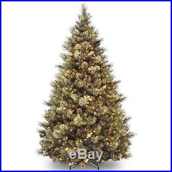 7.5 Ft Christmas Tree Decoration Holiday Stand Green Xmas Clear Lights Gift New