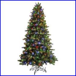 7.5' GE Just Cut Colorado Spruce EZ Light Christmas Tree 400 Color Change LED