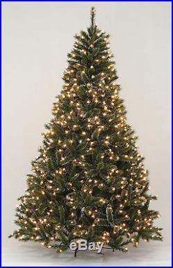 7.5′ Siberian Pine Artificial Christmas Tree with Clear LED Lights