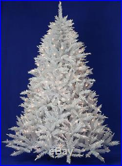 7.5' White Alpine Spruce Artificial Christmas Tree with Clear LED Lights