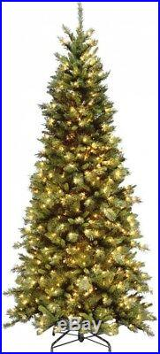 7.5 ft. Artificial Fir Slim FEEL-REAL Christmas Tree Pre-lit with 500 Clear Lights