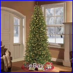 7.5 ft. Artificial Slim Fraser Fir Christmas Tree Pre-Lit with 500 UL Clear Lights
