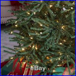 7.5 ft. Delicate Pine Slim Pre-Lit Christmas Tree, Green ...