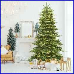 7.5 ft Pre-Lit Aspen Fir Hinged Artificial Christmas Tree with 700 LED Lights SP