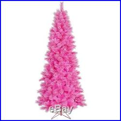 7.5′ x 40 Prelit Pink Cashmere Artificial Tree with 400 Pink Dura-Lit Lights