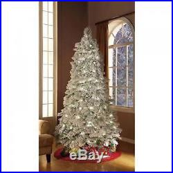 7.5ft Impressive Artificial Christmas Tree Snow Flocked Pre-Lit Holiday Season