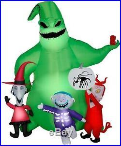 7′ Airblown Oogie Boogie withCreatures Nightmare Before Christmas Disney Halloween