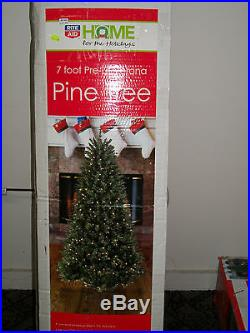 7' Foot Pre lit Verona Pine Artificial Christmas Tree with Stand-Clear Lights