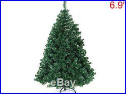 7′ Ft Artificial Ordinary PVC Space Saving Christmas Holiday Tree withMetal Stand