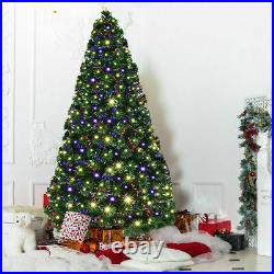 7′ Pre-Lit Fiber Optic Artificial Christmas Tree with 280 LED Lights & Top Star
